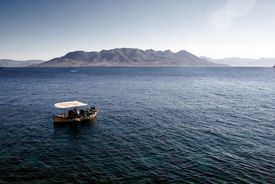Fishing boats in the Mediterranean.