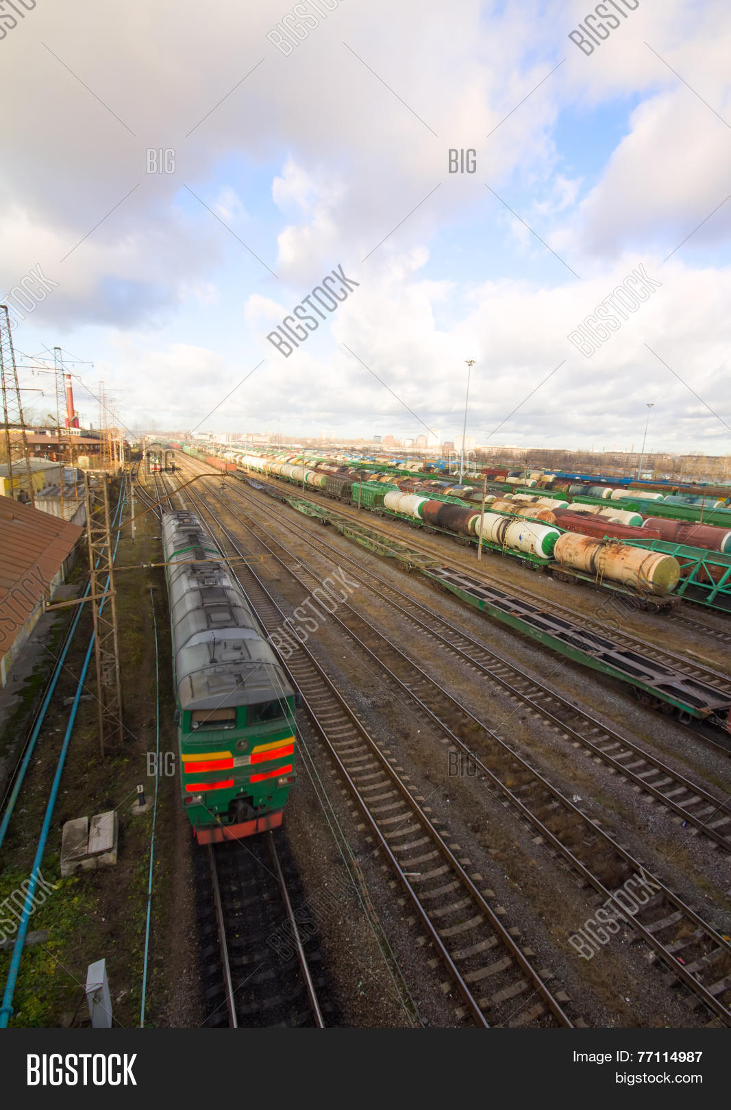 Freight Train Color Image Photo Free Trial Bigstock