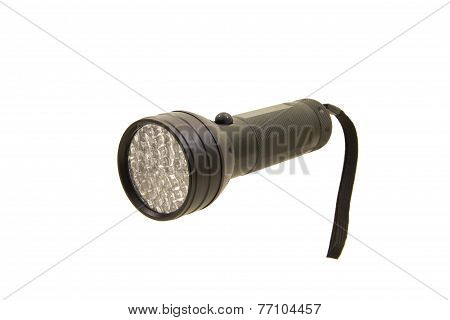 Pocket Led Flashlight Isolated On The White Background
