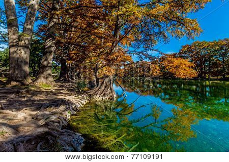 Emerald Clear Waters of Garner State Park, Texas, in the Fall.