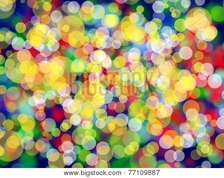 Defocused Christmas Colorful Lights, backgrounnd