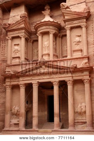 The Treasury at the city of Petra