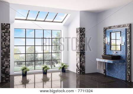 Bathroom Interior 3D Render
