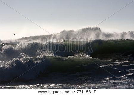 Storm Coming Violent Waves