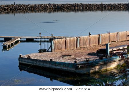 Old Dilapidated Marina Platform