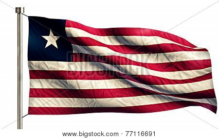 Liberia National Flag Isolated 3D White Background