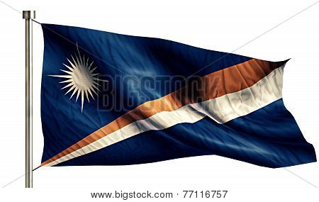 Marshall Islands National Flag Isolated 3D White Background