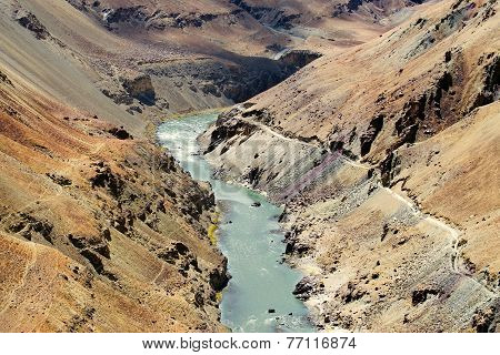Zanskar River, Ladakh, Jammu And Kashmir, India