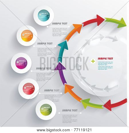 3D Infographic. Can Be Used For Number Options, Workflow Layout, Diagram
