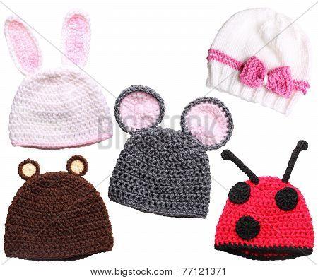 handmade caps for children background