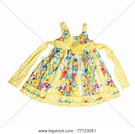elegant dress for baby girl - on white background