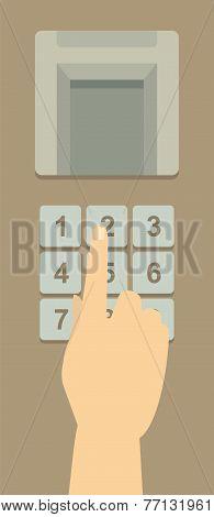 Enter  code on the keys