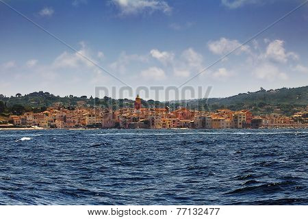 Saint Tropez, Mediterranean , South Of France, View From The Sea