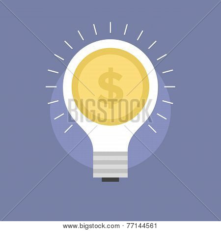 Market Innovation Flat Icon Illustration