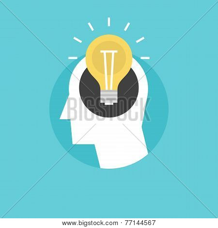 New Idea Flat Icon Illustration