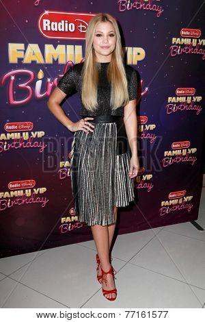LOS ANGELES - NOV 22:  Olivia Holt at the Radio Disney's Family VIP Birthday at the Club Nokia on November 22, 2014 in Los Angeles, CA
