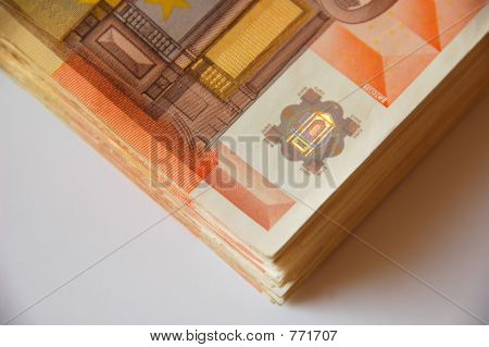 stack of euro bills