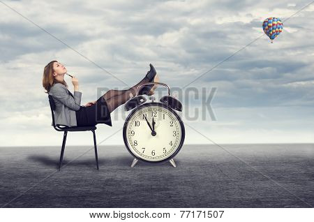 businesswoman dreaming