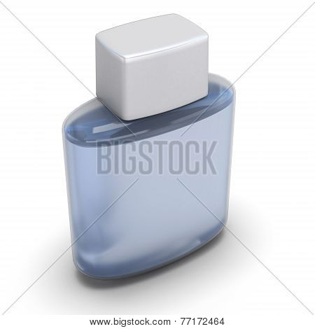 Blank Bottle Of Aftershave Close-up