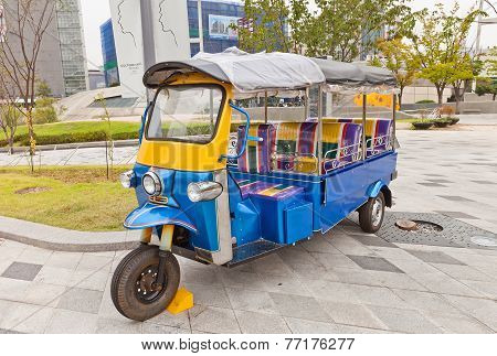 Tuk Tuk In Ddp Of Seoul, Korea