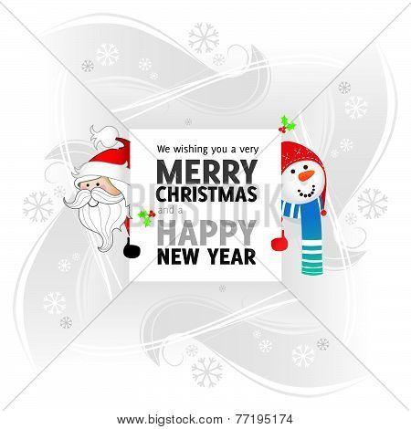 Santa Claus and Mr. Snowman Greeting