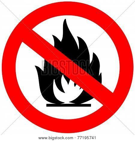 No open fire sign