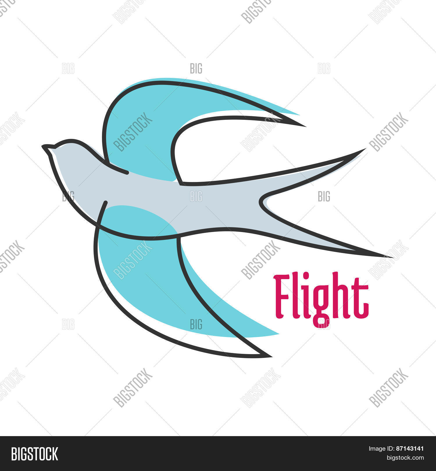 flying blue swallow vector photo free trial bigstock bigstock
