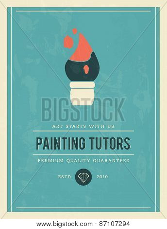 Vintage Poster For Painting Tutors