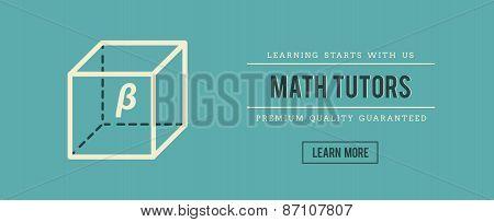 Vintage Banner For Math Tutors