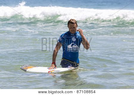 Dane Reynolds competing in the Quicksilver Pro at Snapper Rocks