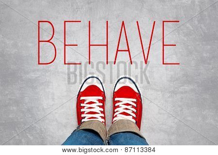 Behave Reminder For Young Person, Top View