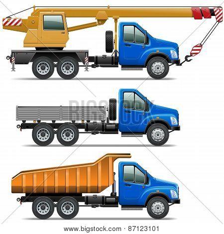 Lorry Icons Set 3