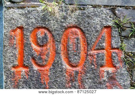 Nineteen O'four 1904 Old Year Stone