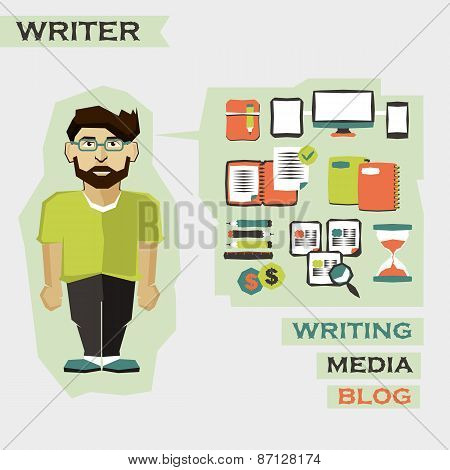 Writer. Freelance Infographic.