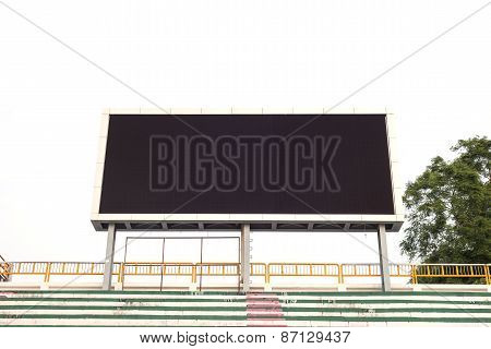 Empty White Digital Billboard Screen For Advertising