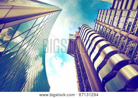 LONDON, UK - APRIL 24, 2014: Modern architecture City of London. Leading centre of global finance