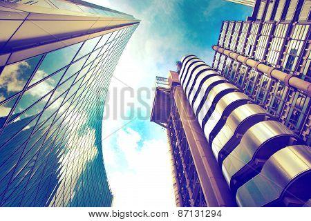 LONDON, UK - APRIL 24, 2014: Modern architecture City of London. Leading centre of global finance
