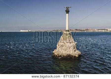 Monument To The Scuttled Ships In The Afternoon