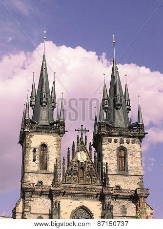Prague Týnský chrám Old Town Square