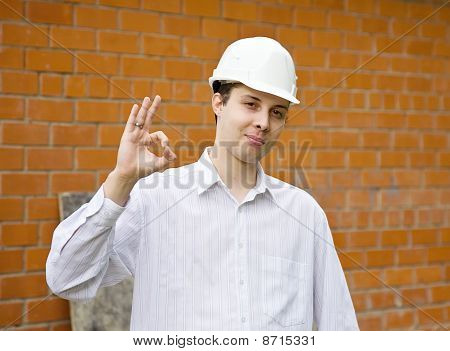 Happy Builder With Ok
