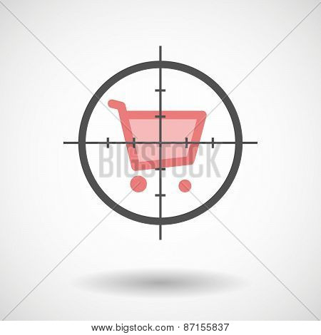 Crosshair Icon With A Shopping Cart