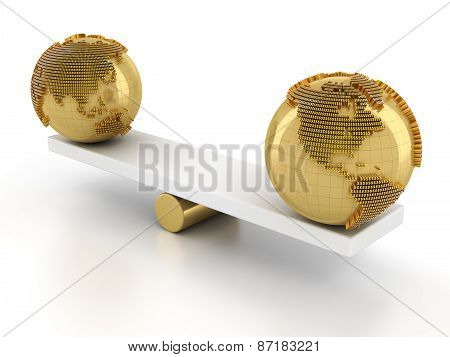 Balance of global financial market