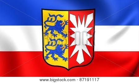 Flag Of Schleswig-holstein, Germany.