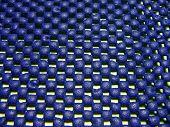 blue plastic skid pad poster