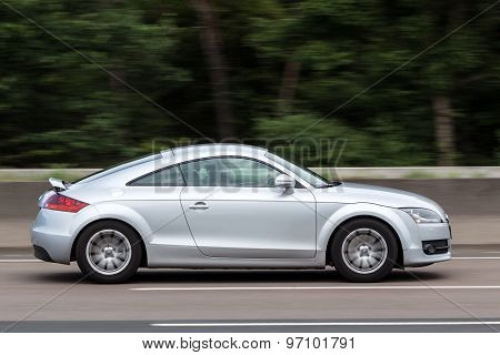 Audi TT Coupe On The Highway