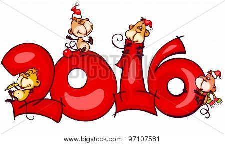 Chinese zodiac new year banner 2016