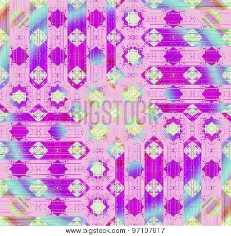 Seamless pattern purple blue