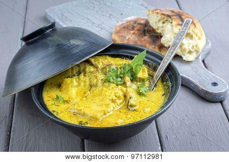 Fish Curry in Bowl