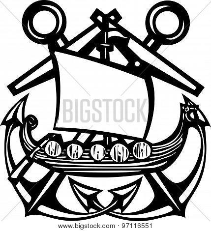 Crossed Anchor Viking