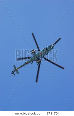 War Helicopter In Fly